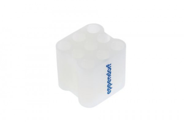 Eppendorf Adapter for 9 x round bottom tubes diameter 12 mm x 75-100 mm, for rotor A-4-38, rect- angular buckets, set of 2