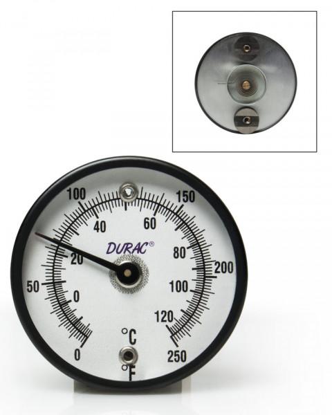 SP Bel-Art, H-B DURAC Bi-Metallic Surface Temperature Thermometer; -18/120C (0/250F), 50mm (2 in.) Dial, Double Magnet