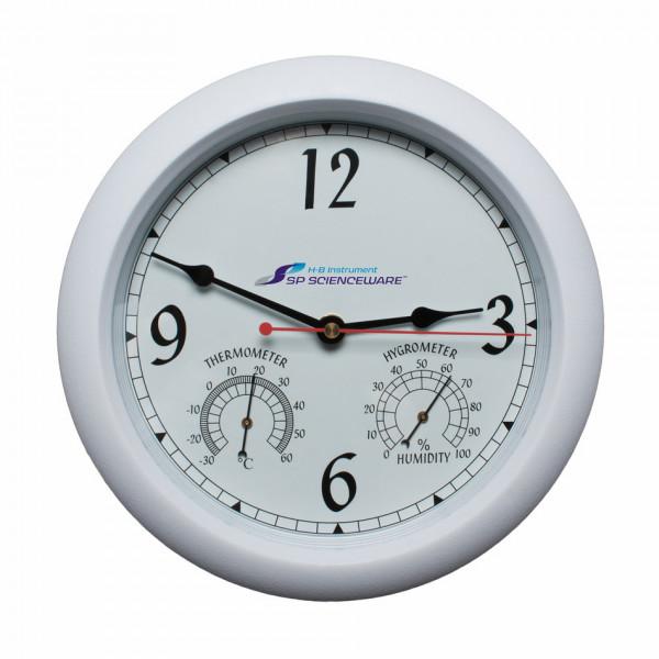 SP Bel-Art, H-B DURAC Thermometer-Hygrometer Round Clock; -30/60C