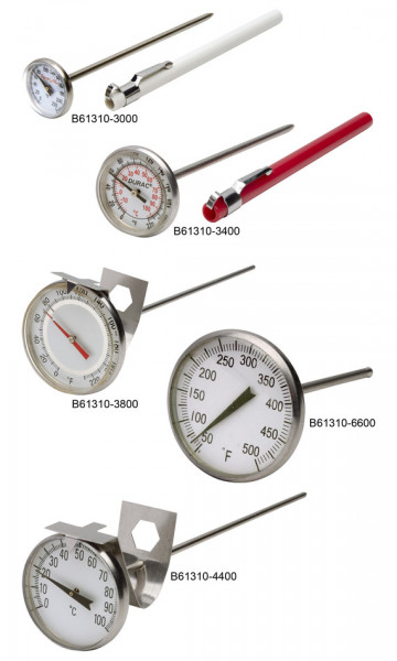SP Bel-Art, H-B DURAC Bi-Metallic Thermometer; 50 to 250F, 44mm Dial