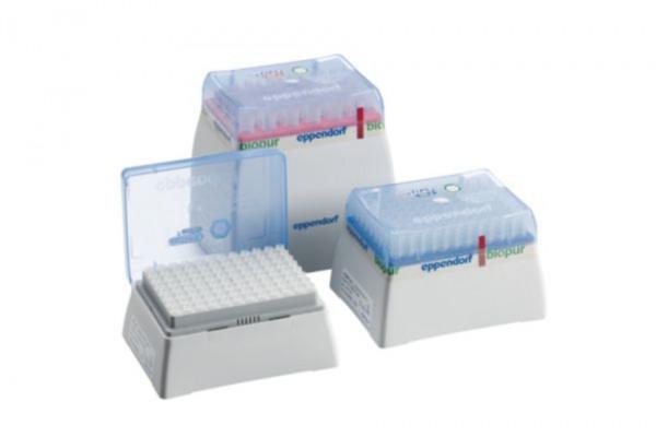 Eppendorf epT.I.P.S.® G Racks, Eppendorf Biopur®, 0.1 - 5 mL, 120 mm, violet, 120 tips (5 racks x 24 tips)