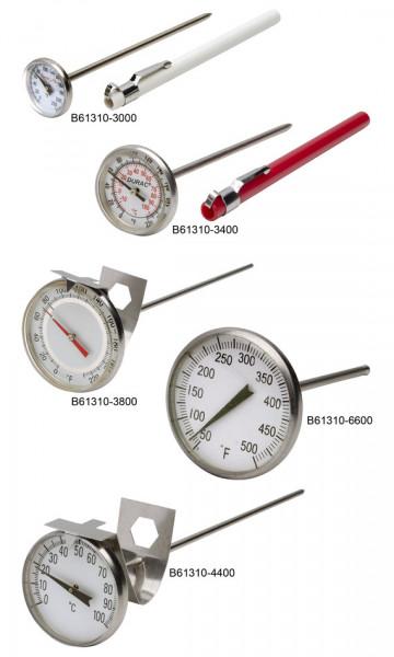 SP Bel-Art, H-B DURAC Bi-Metallic Thermometer; 0 to 220F, 44mm Dial