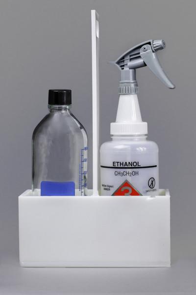 SP Bel-Art Polyethylene Two Bottle Carrier; 9 x 4 x 15¹/₄ in.