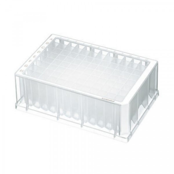 Eppendorf Deepwell plate 96/2000µl, Large package, Sterile, White, 80 plates (10 bags of 8)
