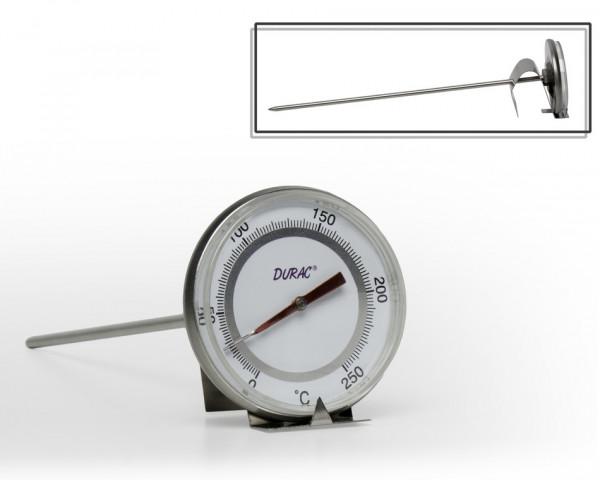 SP Bel-Art, H-B DURAC Bi-Metallic Thermometer; 0 to 250C, 50mm Dial