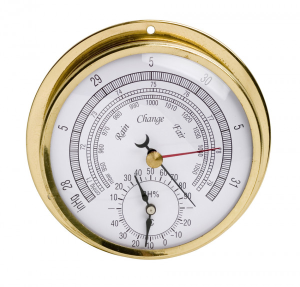 SP Bel-Art, H-B DURAC Thermometer-Hygrometer-Barometer; -30/50C, 0/100 Percent Humidity Range