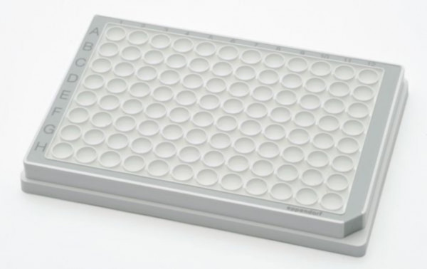 Eppendorf Microplate 96/U-PP, white wells, border color grey, PCR clean, 80 plates (5x 16 pcs.)