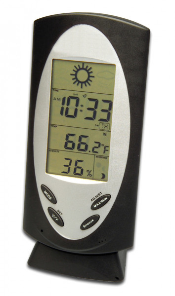 SP Bel-Art, H-B DURAC Indoor/Outdoor Weather Station with Moon Phases, Temperature Trend, Max/Min Me