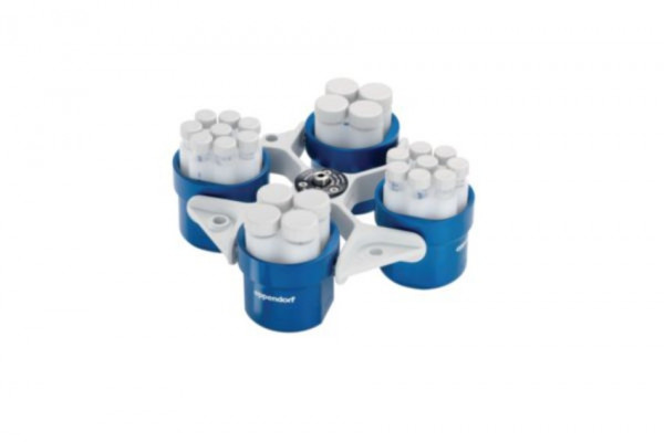 Eppendorf Swing-bucket rotor S-4-72, 4 x 250 mL, incl. 4 round buckets 250 mL (5804/R)