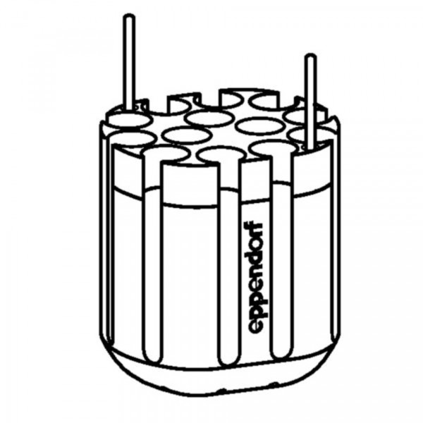 Eppendorf Adapter for 13 x round bottom tubes diameter 16 mm x 75-100 mm, for rotor S-4-72, set of 2