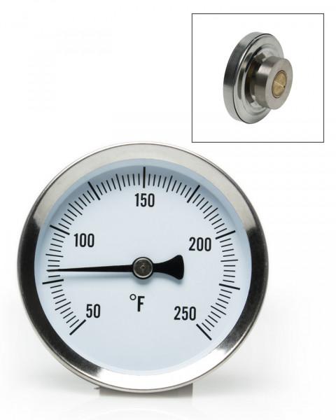 SP Bel-Art, H-B DURAC Bi-Metallic Surface Temperature Thermometer; 50/250F, 64mm Dial, Single Magnet