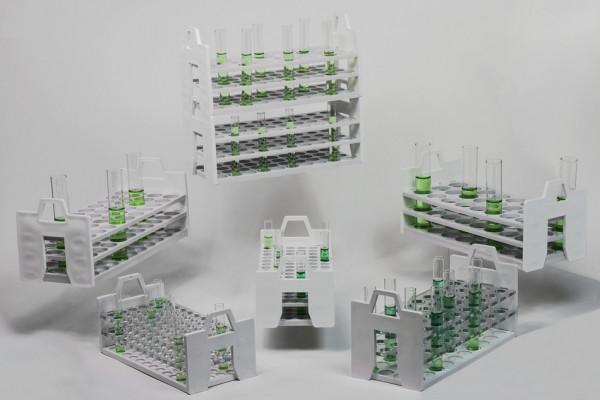 SP Bel-Art Bel-Art Stack Rack Test Tube Rack; For 13-16mm Tubes, 40 Places, Polycarbonate