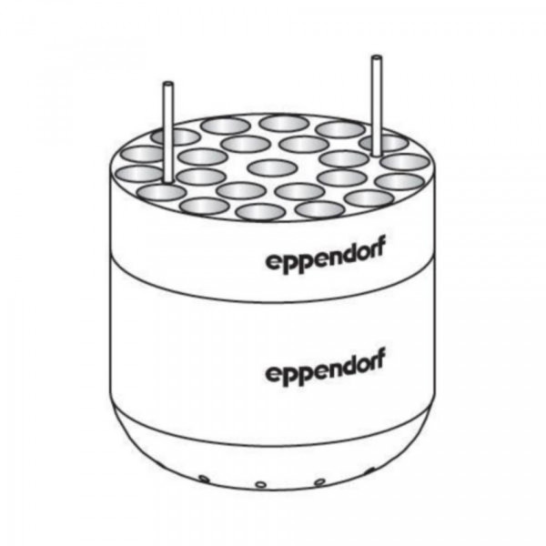 Eppendorf Adapter for 23 x round bottom tubes diameter 13 mm x 75 - 100 mm, for rotor S-4-104, S-4x750, S- 4x1000, set of 2