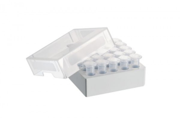 Eppendorf Storage Box 5 x 5, for 25 tubes, 4 pcs., height 63.5 mm, 2.5 inch, polypropylene, for freezing to -86 °C, autoclavable, with lid and alphanumeric code