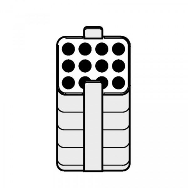 Eppendorf Adapter für Rechteckbecher 250ml zum Einsetzen von 12x 3-15ml Gefäßen, 2 Stück