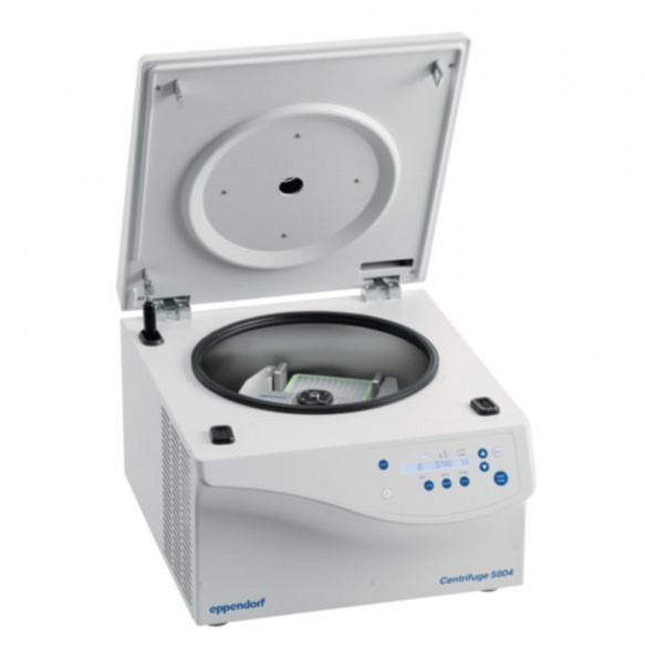 Eppendorf Centrifuge 5804, 230 V/50- 60 Hz, incl. rotor S-4- 72 and 15/50 mL adapters for conical tubes