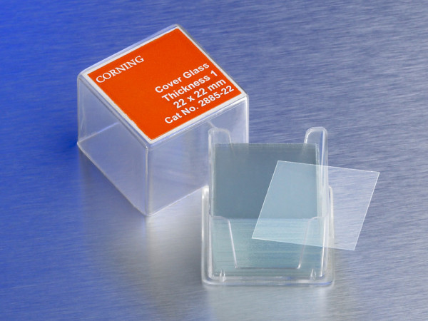 Corning® 25x25 mm Square #1 Cover Glass