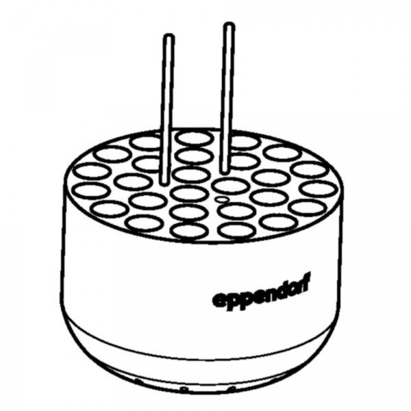 Eppendorf Adapter 27 x round bottom tubes, 12 x 75 mm, Rotor S-4-104, S-4x750, S-4x1000, set of 2
