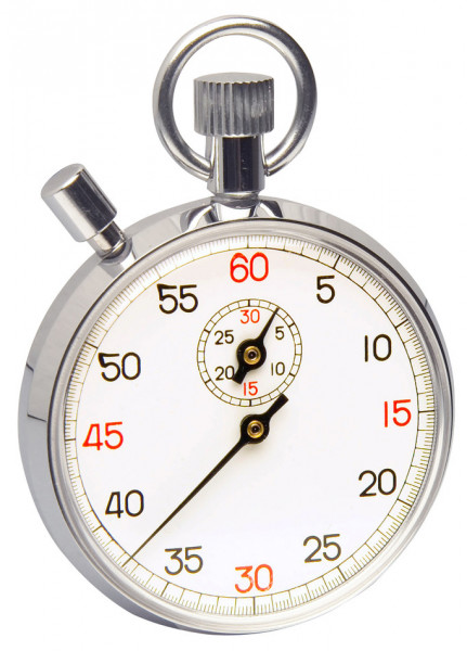 SP Bel-Art, H-B DURAC Analog Copper Chromium Plated Stopwatch; 30 Minute, 1/5 Second Intervals