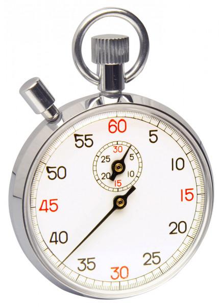 SP Bel-Art, H-B DURAC Analog Copper Chromium Plated Stopwatch; 30 Minute, 1/5 Second Intervals