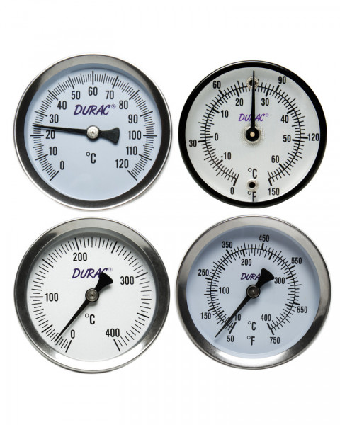 SP Bel-Art, H-B DURAC Bi-Metallic Surface Temperature Thermometer; -18/120C (0/250F), 50mm (2 in.) Dial, Single Thin Spring