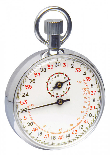 SP Bel-Art, H-B DURAC Analog Copper Chromium Plated Stopwatch; 15 Minute, 1/10 Second Intervals