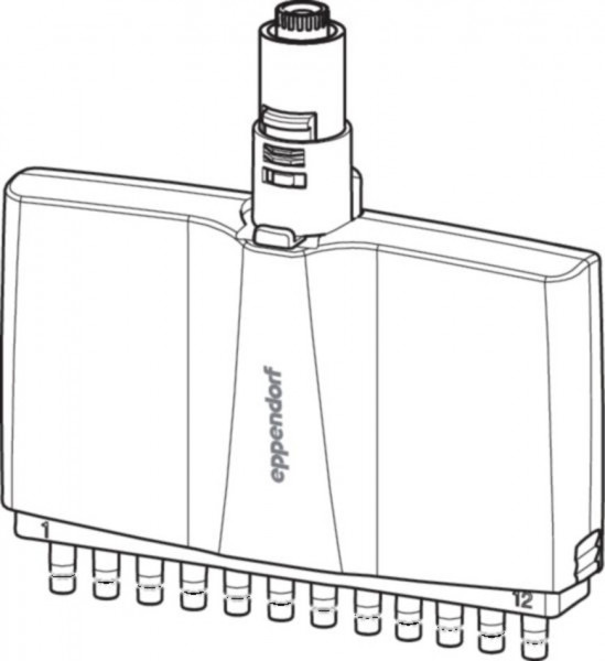Eppendorf Lower part for 0,5-10µl, 12-channel