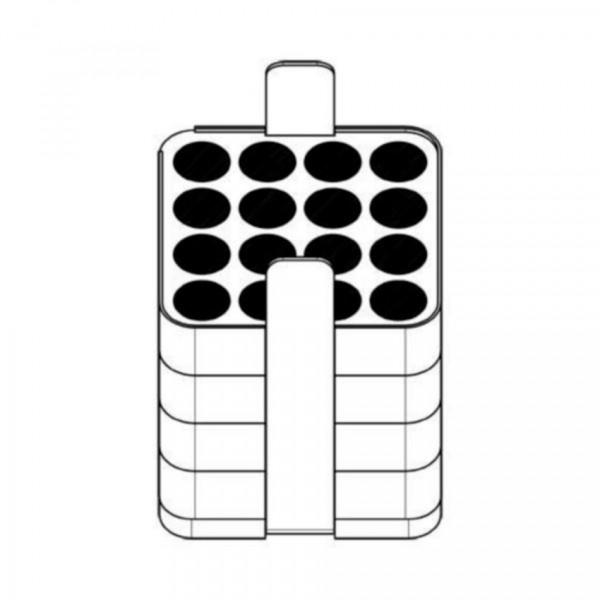 Eppendorf Adapter 16x15ml verpackt (2x)