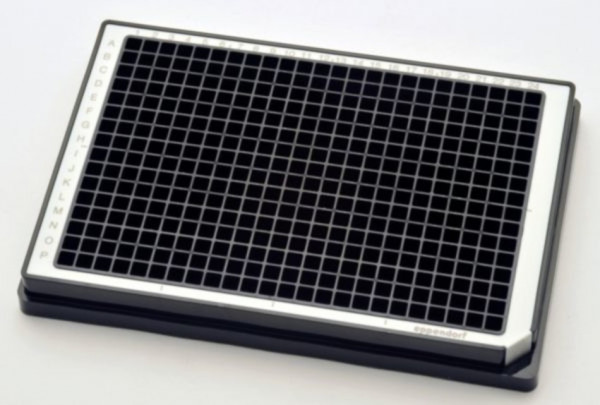 Eppendorf Microplate 384/V-PP, black wells, border color white, PCR clean, 80 plates (5x 16 pcs.)