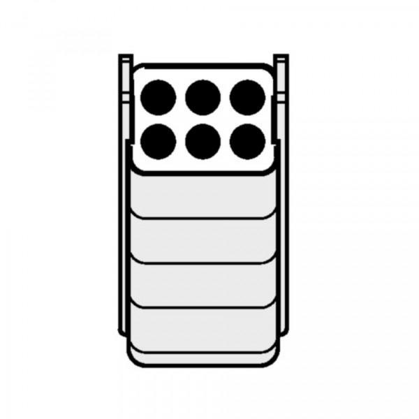 Eppendorf Adapter, für 6 Rundbodengefäße 7 – 17 mL, 2 Stück