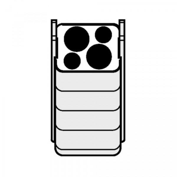 Eppendorf Adapter für Rechteckbecher 100ml zum Einsetzen von 18-30ml Gefäßen, 2 Stück